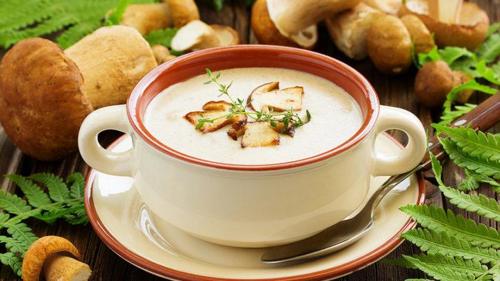 Суп грибной из шампиньонов с плавленым сыром