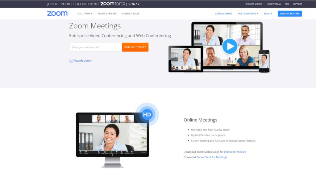 Программа Zoom Meetings